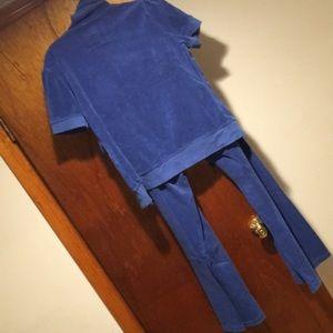 Victoria's Secret Pants - Like new Beautiful Blue Terry 2 piece set (sz L)